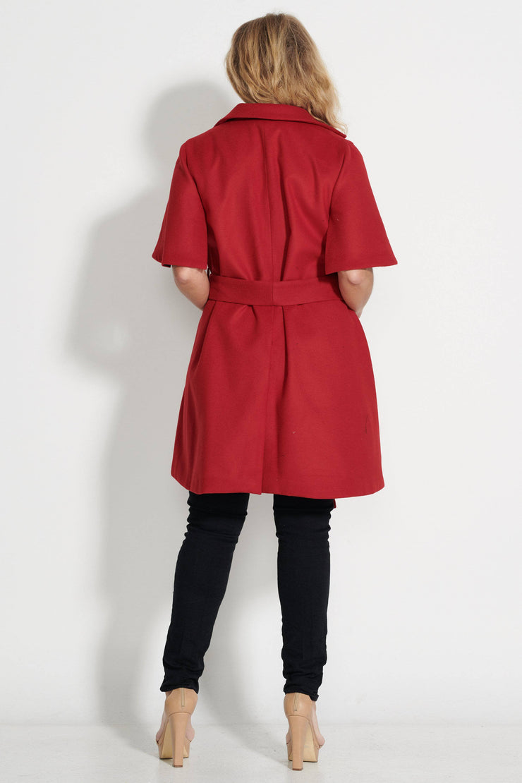 Audrey Red Trench Jacket