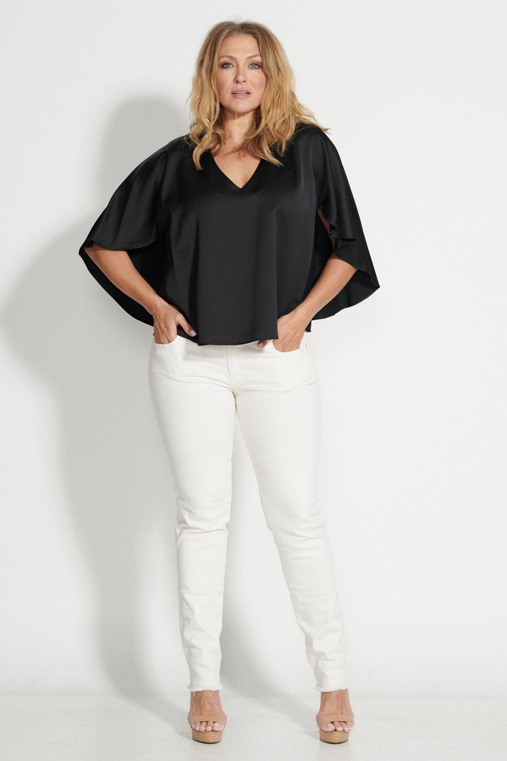 Panama Blouse Black