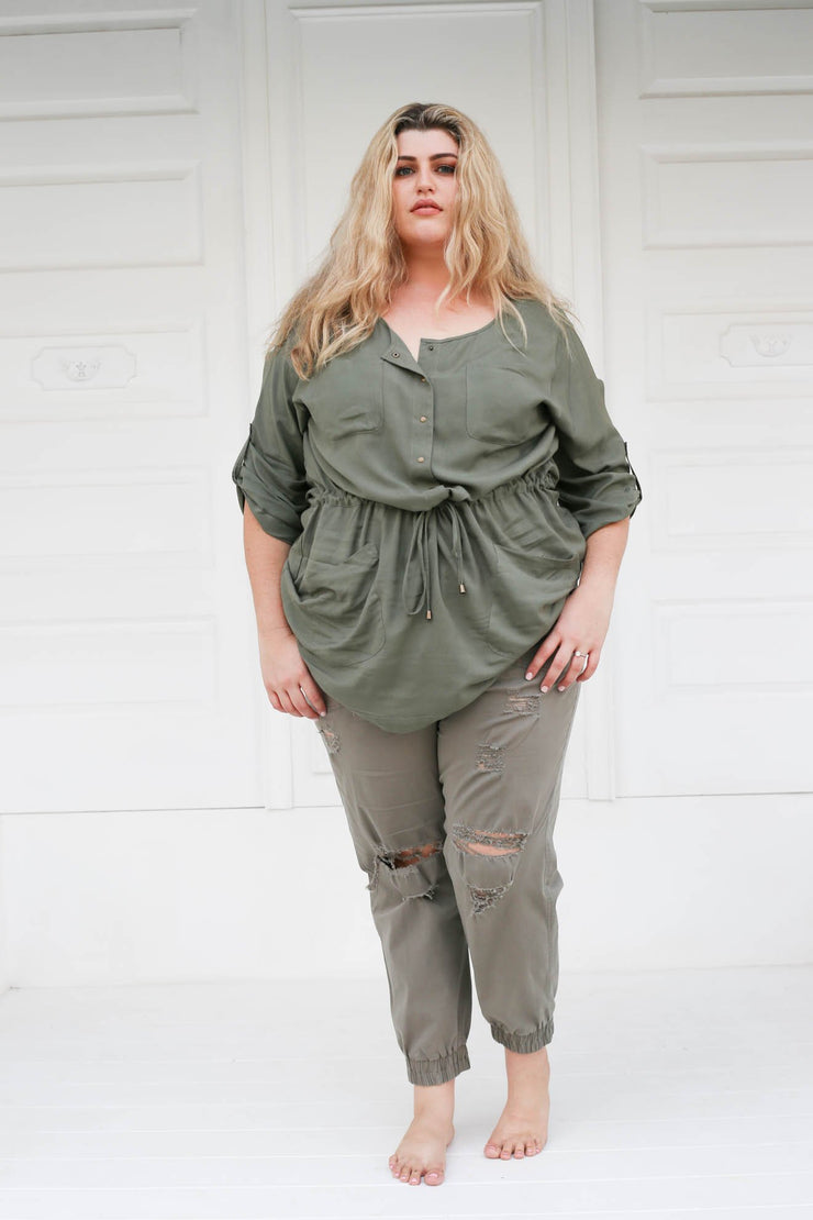 Indus Tunic // Muted Green