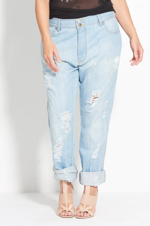 Indy Boyfriend Jean - Vintage Turkish Denim