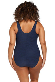 Mélange Navy Fuseli One Piece