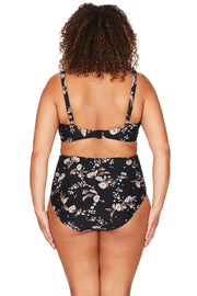 Black Vineyasa Botticelli High Waist Swim Pant