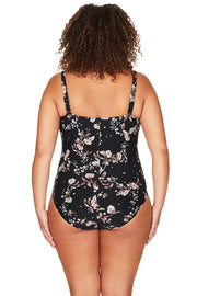 Black Vineyasa Botticelli One Piece