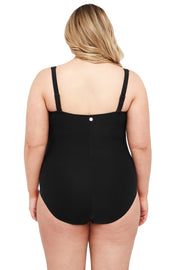 Black Hues Botticelli Floating Underwire One Piece