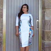 Alessandra Dress - Rainbow Cheetah Print and White