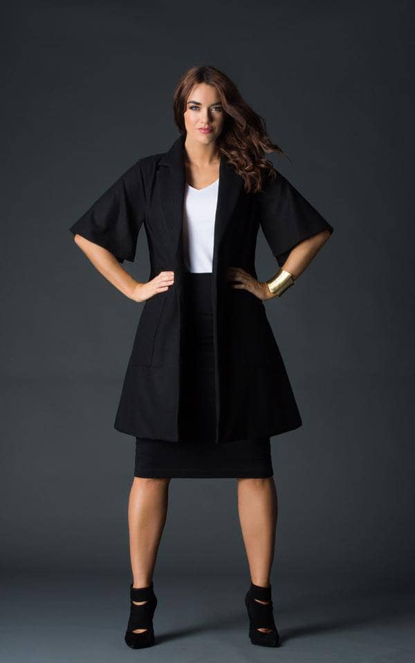 Audrey Black Trench Jacket