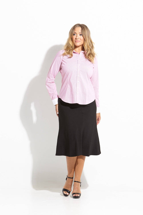 Fifth Avenue Ladies Long Sleeve Shirt in Melon