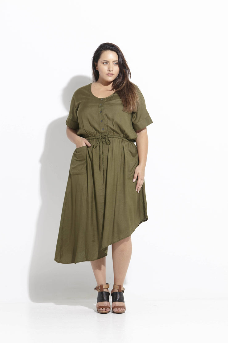 Jemima Dress Khaki