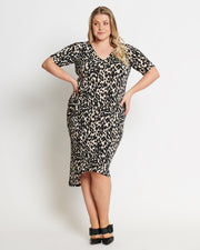 AIESHA DRESS- Leopard Print
