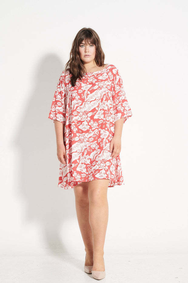 Red Leaf Merokok Dress