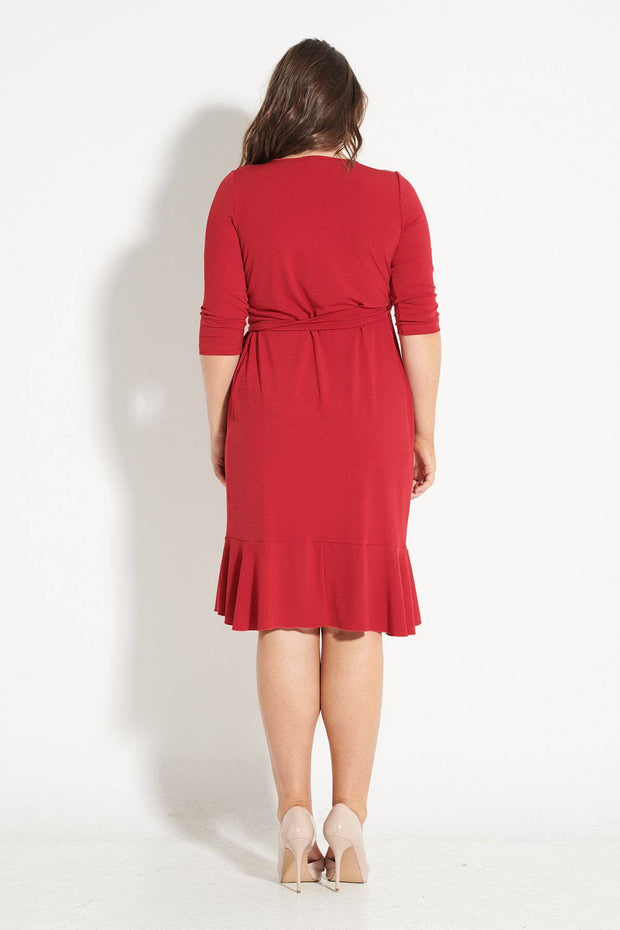 Marilyn Red Wrap Dres