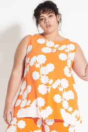 Orange Oriental Cantik Top