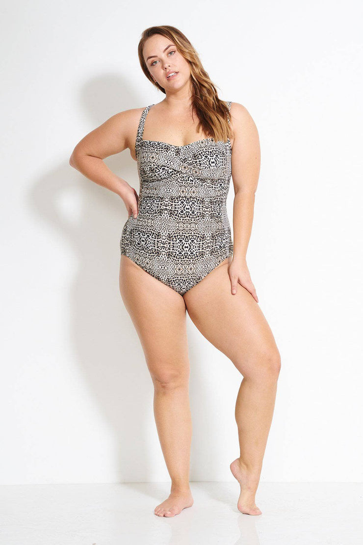 Leopard Botticelli Floating Underwire One Piece
