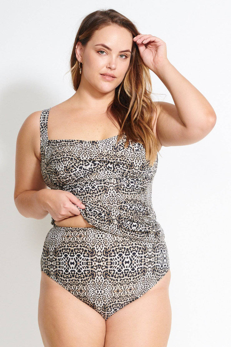 Leopard Botticelli Tankini Top