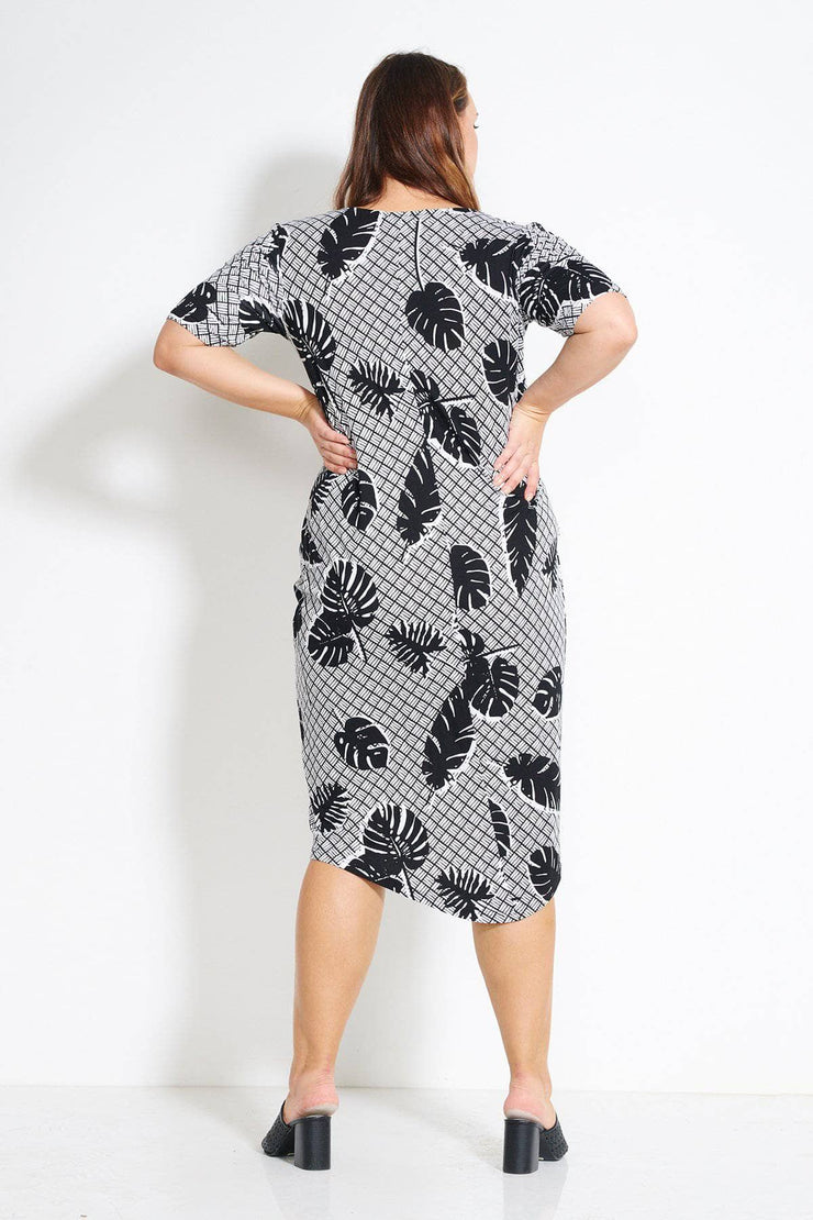 AIESHA DRESS- Palm print