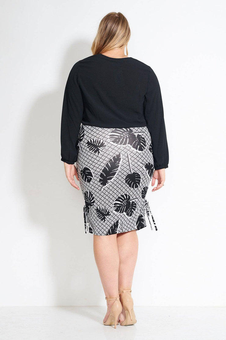 BELLINI SKIRT- Palm print
