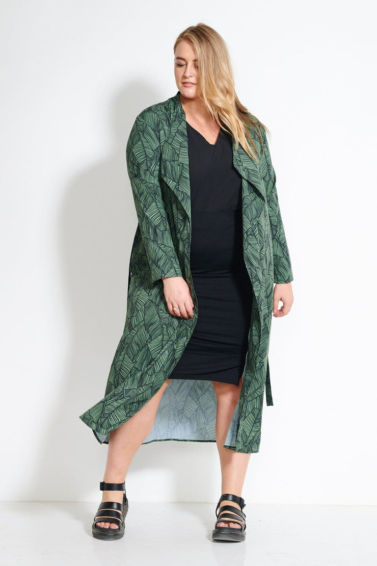 Raddison Silk Touch Duster - Palm Print