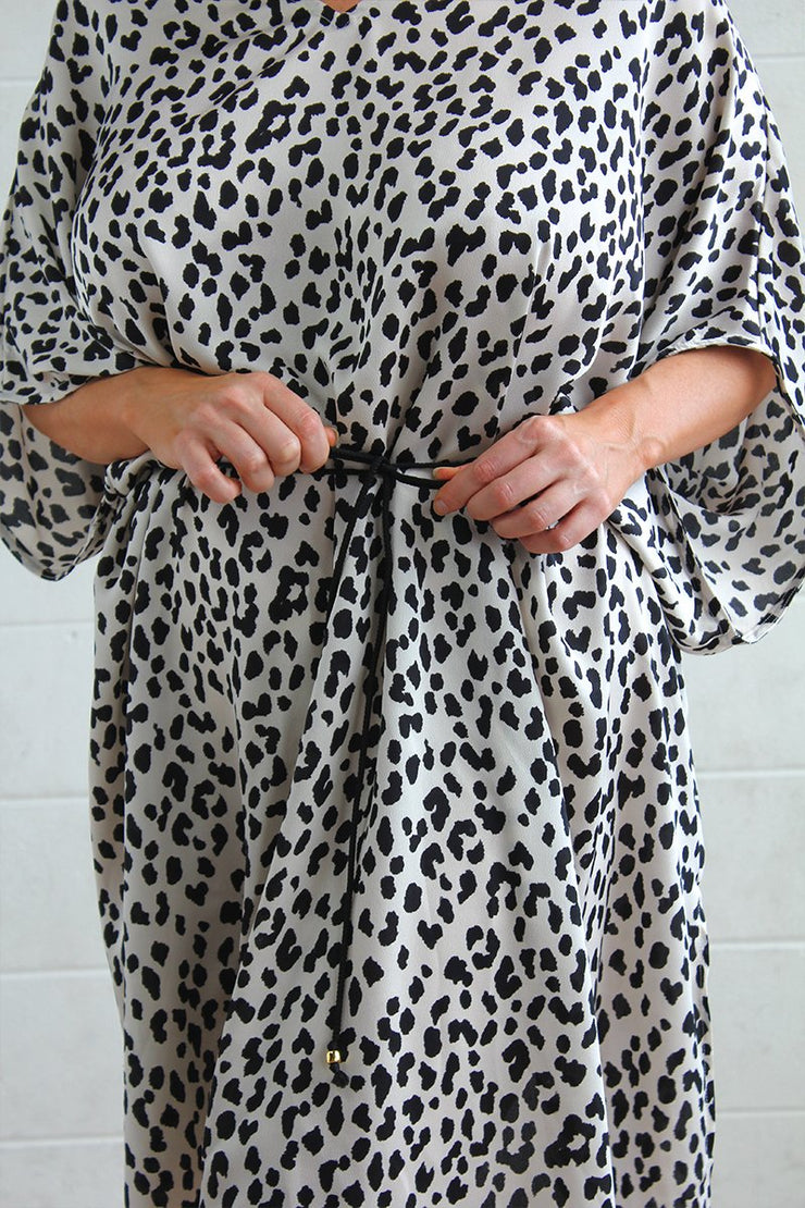 Oasis Kaftan Dress- Animal print