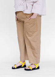 Gathered Waist Pant | Tan