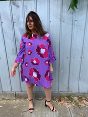 Purple Flower Queen Merokok Dress