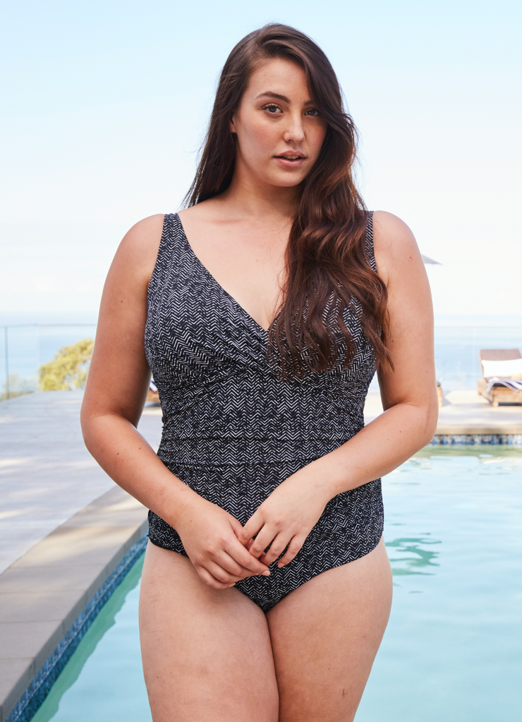 Black Zig Zag Delacroix One Piece