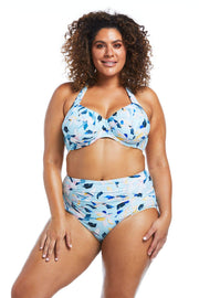 Fleurs Aqua High Waisted Brief