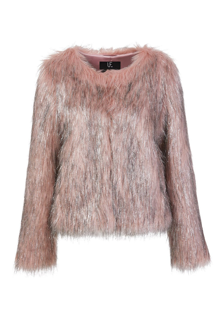 Fire & Ice Jacket in Dusty Pink/Silver