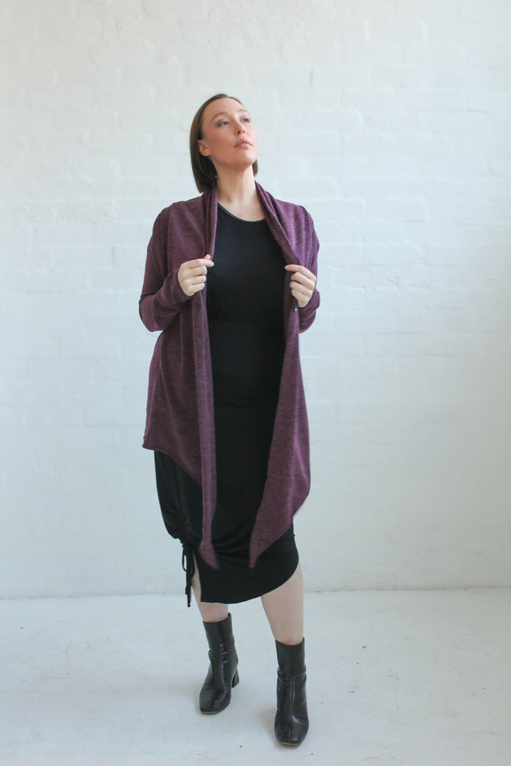 Eden Waterfall Cardi- Wine