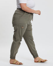 Ryker Ripped Joggers | Muted Green