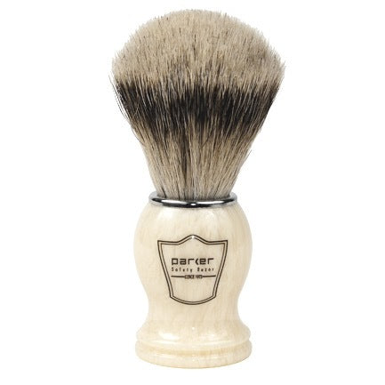 Parker Ivory Handle Silvertip Badger Shaving Brush