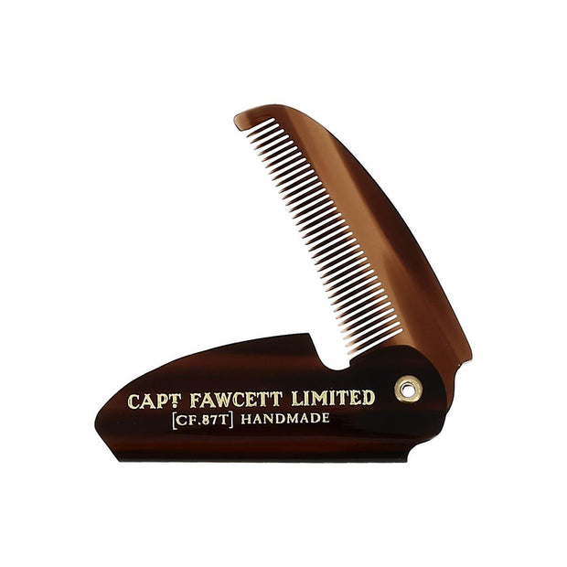 Captain Fawcett's Folding Pocket Mustache Comb