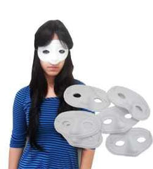 Funny Party Hats A Dozen White Eye Masks - Set Of Dozen Simple Eye Masks In White