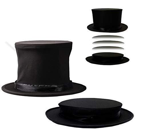 Costume Hats - Top Hat - Magician Costume - Collapsible Black Hat Magic Trick by Funny Party Hats