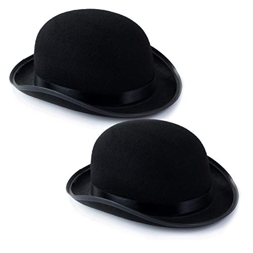Funny Party Hats Derby Bowler Hat - Costume Hats for Men Women Unisex - Dress Up