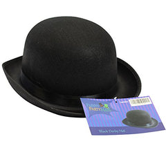 Black Derby Deluxe Hat by Funny Party Hats