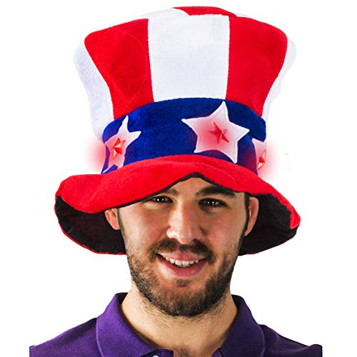 Light up Uncle Sam Hat - Patriotic Hat