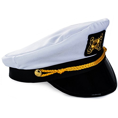 4354ccb60 Adult Captain's Yacht Hat and White Cotton Sailor Hat-Funny Party ...