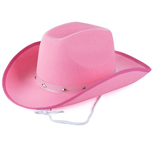 Funny Party Hats Cowboy Hat - Studded Cowboy Hat - Cowboy Costume Accessories - Western Cowboy Hat