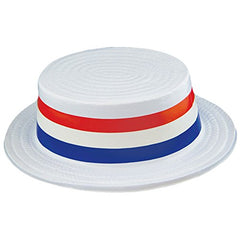 Funny Party Hats Skimmer Hat - Boater Hats - Patriotic Accessories - American Flag Party Hats