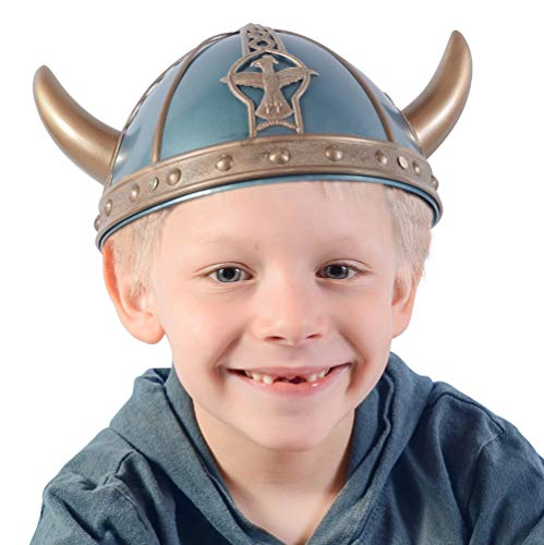 Kids Viking Helmet - Viking Hat - Viking Costume Accessories by Funny Party Hats (Kids Viking Helmet)