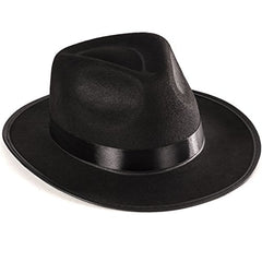 Funny Party Hats Black Fedora Gangster Hat Costume Accessory