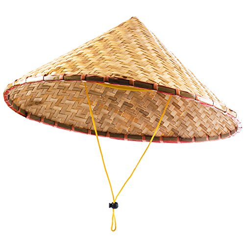 Funny Party Hats Coolie Hats - Asian Hat - Rice Patty Hat - Chinese Bamboo Hat