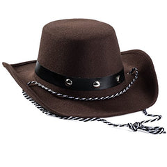 Baby Cowboy Hat – Western Brown Studded Cow Boy Hat for Kids and Babies, Dress Up Accessories by Funny Party Hats