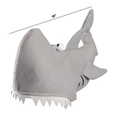 Shark Hat - Adults Shark Costume Accessory - Novelty Hats by Funny Party Hats