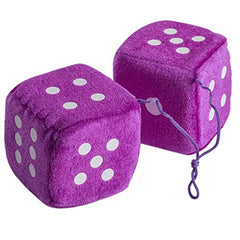 Car Dice - Fuzzy Dice- Mirror Hanging Accessories - by FunnyPartyHats