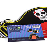 Pirate Party Hats - 12 Pack - Pirate Birthday Hats - Pirate Theme Party Supplies - Pirate Party by Funny Party Hats