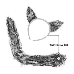 Wolf Costume Accessories - Wolf Ears & Tail Set by Funny Party Hats®