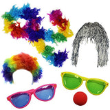 Clown Accessory Kit Party Favors Dress Up - Photo Booth Props Funny Party Hats