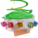 Funny Party Hats Santa Hat - Elf Hat - Christmas Tree Hat - Antler Headband - (2 Pc)