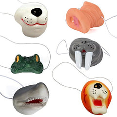 Six Assorted Animal Noses - Set Of 6 Animal Series Nose Masks